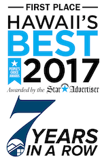 Thanks for voting us Hawaii's best 7 years in a row!