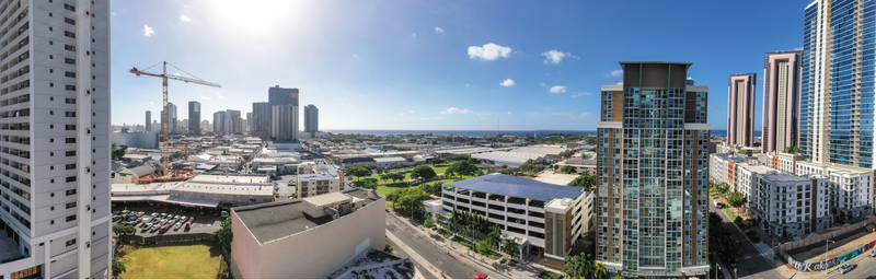 crane on site at new kakaako condo project